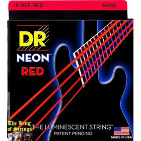 Encordoamento P/ Baixo De 4 Cordas Dr Neon - Vermelha .40