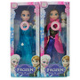 Kit 2 Bonecas Frozen Ana E Elsa + Olaf Musical
