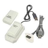 Kit 4 En 1 Bateria Recargable 4800 Mah Xbox 360 Cable Base