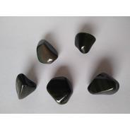 Piedra Obsidiana Negra Arco Iris Rolada Nro. 2
