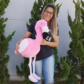 Flamingo De Pelúcia 90 Cm - Rosa