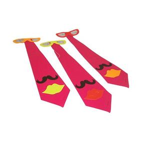 Corbata Larga Fluorescente 12pzas