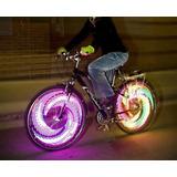 Luz 5 Leds De Neon Válvulas P Bicicleta Moto Auto Novedad