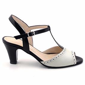 Sandalia Cuero Mujer Briganti Zapato Vestir - Mcsd04475 Vh