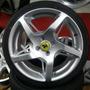 Rodas Ferrari Rocket + Pneus 195/40/17 Fit Onix Punto Hb20