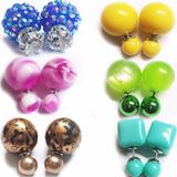 Zarcillos Doble Perlas Collares Pulseras !ofertas¡ Bisuteria