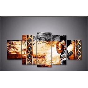 Cuadros Modernos Tripticos Paisajes Africanos Pintados