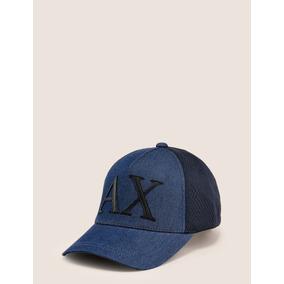 Gorra Armani Exchange Para Caballero Azul Letras Negras Ax a9348e83a6d