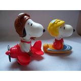 Remate Snoopy Con Avion Y Lancha Juguetes De Medio Uso