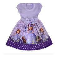 Vestido Infantil Princesa Sofia Roupa/fantasia