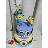 Torta Artesanal Minions Dulce Pastel Lanus Envios!!