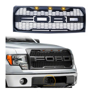 Parrilla Tipo Raptor Ford Lobo F150 2009/2014 Con Led