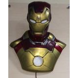 Boneco Figura Estatua Homem De Ferro-iron Man- Resina -colec