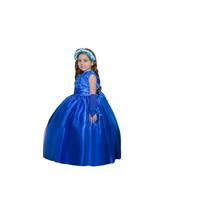 Vestido Festa Princesa Formatura Florista Casamento Azul