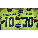 Jersey Fc Barcelona 2005 2006 Messi Ronaldinho Champions
