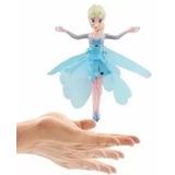 Boneca Voadora Frozen Princesa Elsa Com Sensor Fada