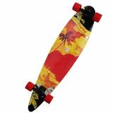 Longboard Skate Abec 9 Rodas Rolamento Shape Vermelho