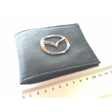 Portadocumentos Mazda Cuero 100% Con Emblema Original