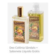 Deo Colônia Sândalo + Sabonete Líquido Grátis
