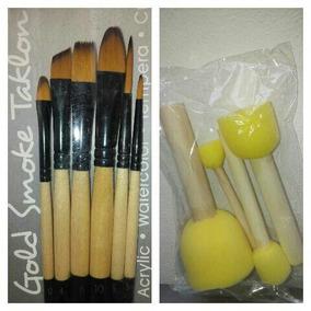 Pinceles Arte Maquillaje Artístico Y Set Esponjas