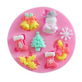 Repostería Molde Silicona Navidad Cupcakes Porcelana Fría