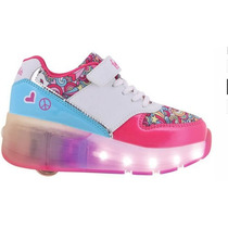 Zapatilla Fxr17 Luces Led Footy Rueda Peace & Love Blue