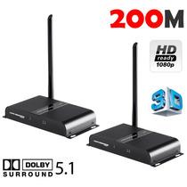 Transmissor Extensor Hdmi Sem Fio Full Hd 1080p 3d Wireless