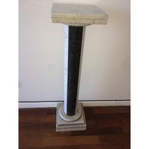 Columna De Marmol De 90 Cm De Alto Hecha Con Torno Artesanal