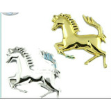 Stickers Para Auto Cromo Metal 3d Caballo
