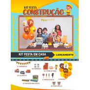 Kit Festa Construção Happy Day Festa Em Casa Decoração