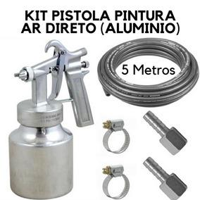 Revolver Pintura Ar Direto Caneca Alumínio Kit 5m Mangueira