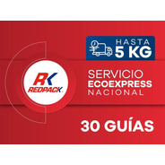 30 Guías Prepagada Ecoexpress Hasta 5 Kg