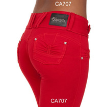 Calça Feminina Vermelha Obsessão Tem Preta Cinza Cintura 707