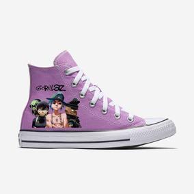 Zapatos Gorillaz The Now Now 3 Violeta Pintado A Mano Marca