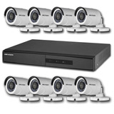 Kit Monitoramento Dvr 8 Canais + 8 Câmeras Hd 720p Hikvision