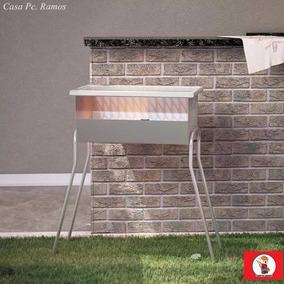 Churrasqueira Aço Inox Montada Assar Churrasco Carvão Frete