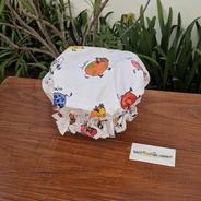 Gorra De Baño Tela Estampa Vaquitas