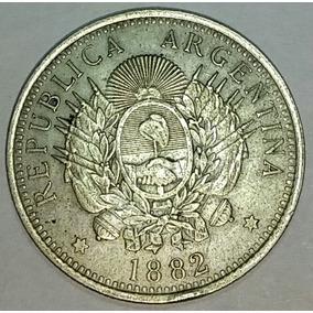 Mo Eda Argentina 50 Centavos 1/2 Patacon Año 1882 Plata