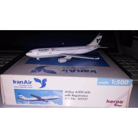 Miniatura Avião - Iran Air - Airbus A300-600 Herpa Og 1/500