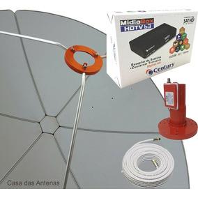 Parabolica Midia Box B3 Chapa 1.50 12x S/juros Kit Completo