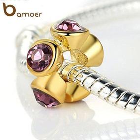 @net Pingente Moda Pandora Vivara Ouro18kplated 5 Cristal C