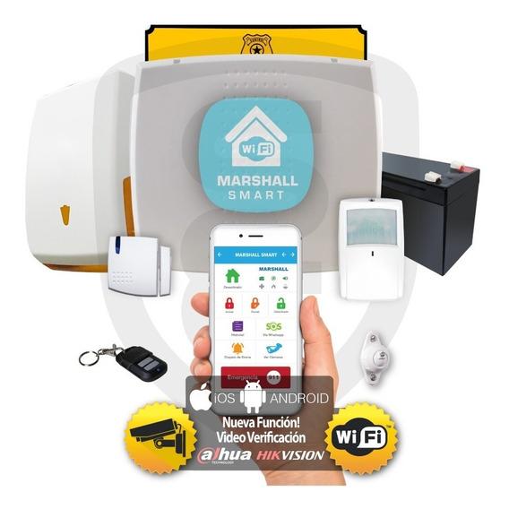 Kit Alarma Inalámbrica Marshall 3 Ip Wifi Aplicación Celular Marshall Smart Domiciliaria Hogar Casa Comercio