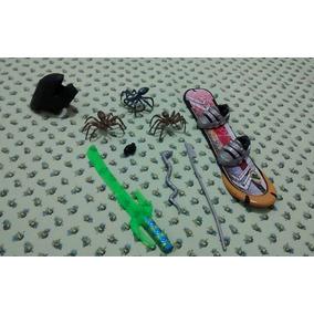 Max Steel Lote Acessórios Snowboard Capacete E Armas R$33