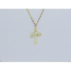 Pingente Cruz Crucifixo Masculino Em Ouro 18k 750