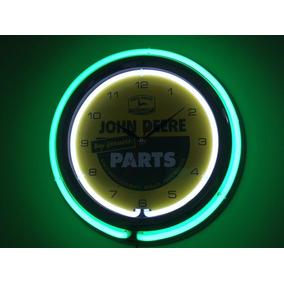 Relógio Neon Retrô John Deere Vintage