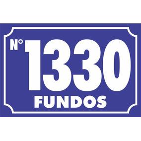 Placa De Endereço Numero Da Residencia Pvc 2mm 10x15cm