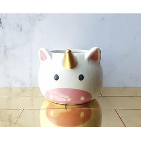 Maceta Unicornio Ceramica