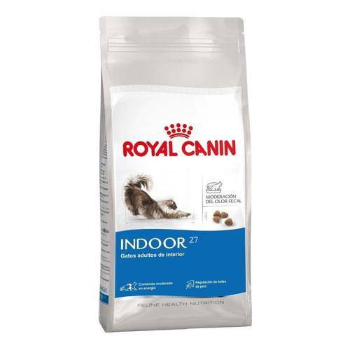 Alimento Royal Canin Feline Health Nutrition Indoor 27 para gato adulto sabor mix en bolsa de 400g