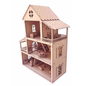 Casa De Boneca Em Mdf