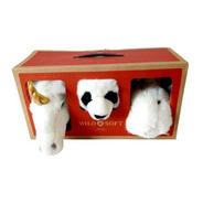 Kit Lovely Box Com 3 Mini Cabeças Parede Pelúcia Wild & Soft